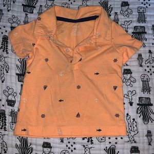 Carters nautical print polo top